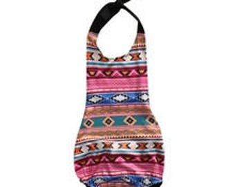 Boho Tribal Native Baby Infant Girl Romper Sunsuit Sun Suit