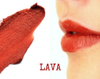 LAVA Red Mineral Lip Tint Lipstick: Natural Makeup Color