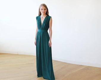 RESERVED - Customer Leah - Emerald green maxi dress 1003