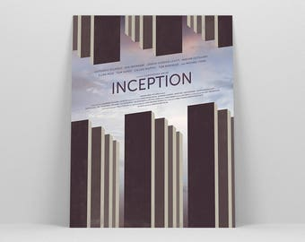 "Inception 12x16"" Movie Poster ~ Art Print by Christopher Conner"