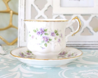 TEA CUP, Vintage English Fine Bone China by Paragon, By Appointment to H.M. the Queen, Malandi Pattern, Stoke On Trent, Replacement China