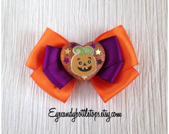 Pumpkin Halloween Hair Bow