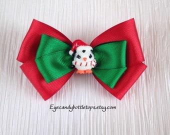 Christmas Penguin Hair Bow