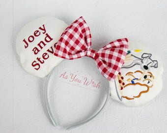 Lady and the Tramp Spaghetti kiss inspired customized ears