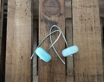Calm Before the Storm ~ Chalcedony Earrings