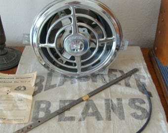 Vintage NEW Unused Air King Chrome Ceiling Ventillation Fan, 1960's Chrome, w/ instructions and mountings
