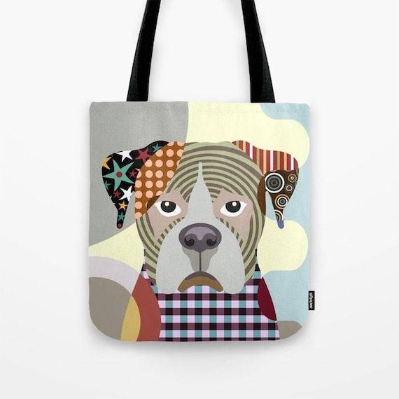 Boxer Tote Bag, Boxer Bag, Boxer Gift, Dog Tote Bag, Animal Tote Bag, Dog Lover Gift Tote Bag, Animal Lover Gift
