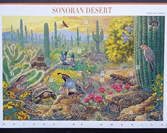 Sonoran Desert sheet of ten 33 cent stamps