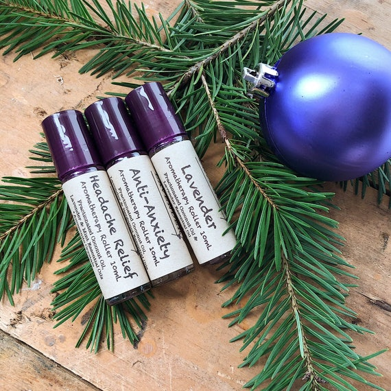 Lavender Gift Set - Lavender Aromatherapy Gift Set - Aromatherapy Roller Gift Set - Stocking Stuffer Gift Set - Stocking Stuffers