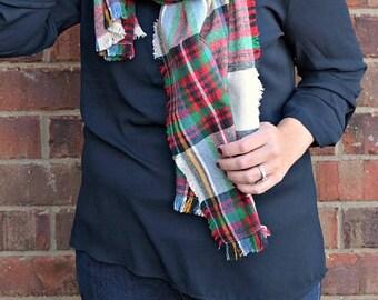 Warm Flannel Blanket Scarf