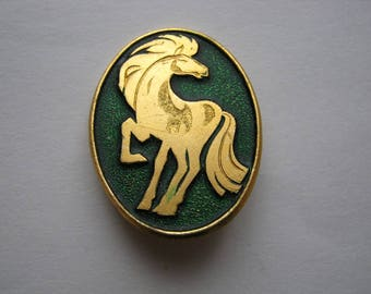 Vintage soviet USSR pin badge Horse