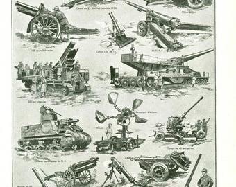 1948 Military poster Vintage artillery poster military decor Military gift Gift for gunner gift for soldier gift for officer gift
