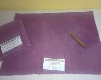 New Lavender Fields - Wool Fabric - Fat Quarter - Rug Hooking Wool - Rug Making - Rug Supplies - Doll Making