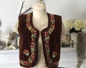 Beaded Velvet Gypsy Bolero Vest