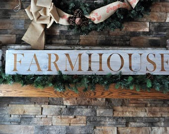 Old Reclaimed Wood Plank Farmhouse Sign