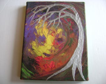 Mother Nature - Original Acrylic Painting - Stretched Canvas - 7 x 9