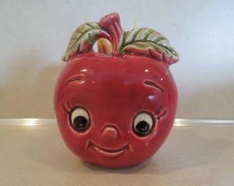 Anthropomorphic Apple Toothpick Holder Adorable