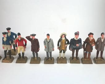 Famous Canadians Figurines - SOLD INDIVIDUALLY  - Lipton's Collectibles - 1960's - Historical Men