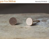 JULY 4TH SALE Rose Gold Earrings, Rose Gold Studs, Circle Earrings, Circle Studs, Rose Gold Circle Earrings, Minimal Earrings, Dainty Earrin