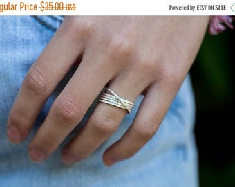 NEW YEAR SALE Gold Stacking Rings Russian Wedding Ring