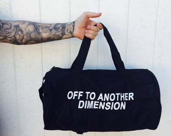 Off To Another Dimension Duffle Bag- BLACK