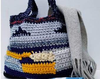 Crochet bag, Crochet handbag, Chunky bag, Knitted Bag, Crochet Tote bag