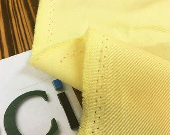 Solid Wide Cotton Twill Fabric - Lemon - By the Yard 100045