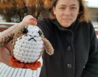 Crochet toy, inspired by Porg