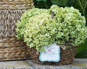 Dried Hydrangea Rustic Flower Arrangement, French Country Cottage, Sage Green Hydrangea, Farmhouse Wedding Flowers, Centerpiece, Greenery