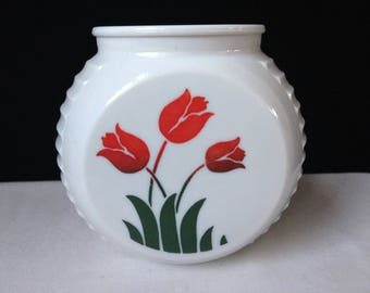 Anchor Hocking - Fire King - Tulip Grease Jar - No Lid - 1940's