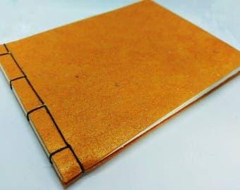 Orange Traditional Japanese Stab Binding Sketchbook Journal Notebook Album Book Medium