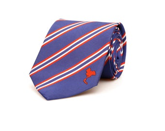 Thailand Tie - Inspired by the Thai Flag with Personalized Tag. LDS Missionary. Husband Gift, Missionary Gift. Fathers Day Gift.
