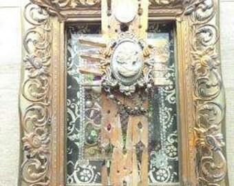Golden Repurposed Embellished Gothic