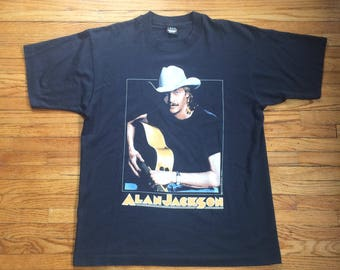 Vintage Alan Jackson Don't Rock the Jukebox Country Music Screen Stars Best 90's T-Shirt