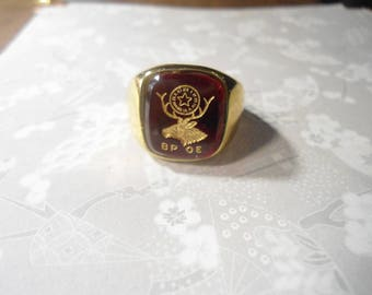 1 Benevolent and Protective Order of Elks Goldplated Size 12 Ring