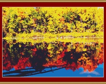 Fall Colours Cross Stitch Pattern