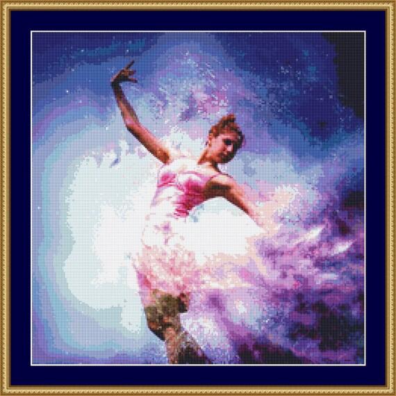 Ballerina Cross Stitch Pattern /Digital PDF Files /Instant downloadable