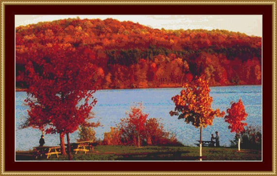 Pennsylvania Landscape Cross Stitch Pattern /Digital PDF Files /Instant downloadable