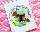 CUSTOM ORDER for Jenny--Boba Fett Embroidery 8 inches