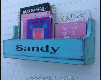 Personalized, Bookshelf, Shelf, Reclaimed Wood, Wall Hanging shelf, Flower Box, Herb Container, Bathroom,  Boys, Girls, Kids Room, Toy Box,