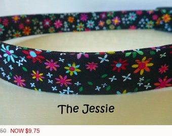 "Sale - 50% Off - Daisy Dog Collar - Multi-Floral Collar- ""Jessie"" - Free Colored Buckles"