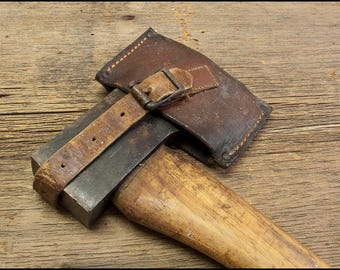 Hudson Bay Camp Axe, Hatchet, Vintage LL Bean with Original Leather Sheath