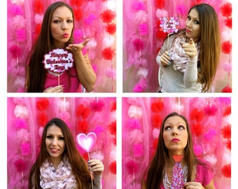 Valentine's Day Mini Heart Photo Booth Props - all about love - all about hearts - perfect for your Valentine and you...