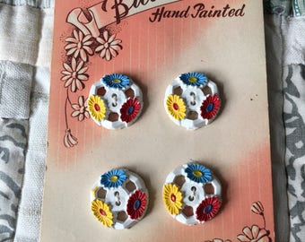 Pretty Hand Painted buttons