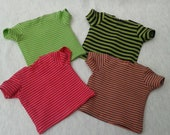 "Ready to ship - Striped T-shirts for 16/17"" Sasha/Gregor, Sasha Baby and Toddler or Muller Wichtel 30/32cm"