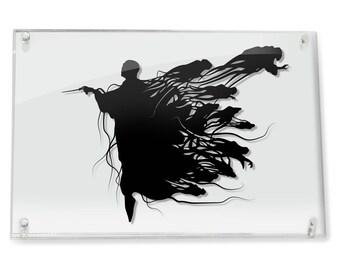 Voldemort and Dementors Harry Potter silhouette handcut paper craft unique wall art