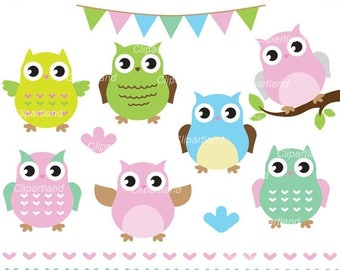 ON SALE INSTANT Download. Owl clip art. Co_14. Personal and commercial use.