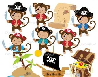 Monkey clip art   Etsy
