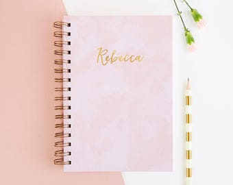 Personalised Pink Notebook Gift
