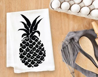 Pineapple Tea Towel Flour Sack Towel Kitchen Towel